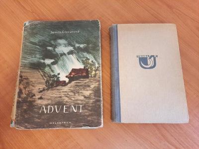 Knihy Advent a Roky v kruhu od Jarmily Glazarové, obě s autogramem