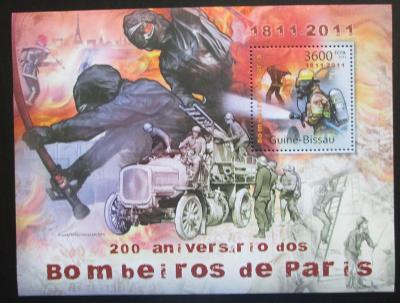 Guinea-Bissau 2011 Hasiči z Paříže Mi# Block 981 Kat 12€ 2274