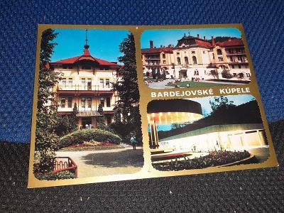 Pohlednice Bardejovské Kúpele, neprošlé poštou.
