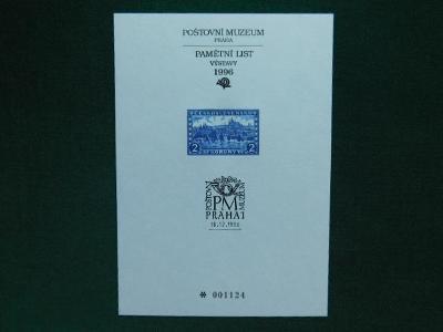 PTM 7 - 78.Výročí Založ - 1996 - Příležitostné Tisky Poštovního Muzea
