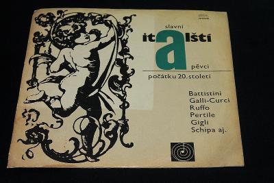 LP - Various - Slavní Italští Pěvci Počátku 20.Století  (d24)