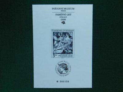 PTM 11 - 10. Výročí Otev - 1998 - Příležitostné Tisky Poštovního Muzea