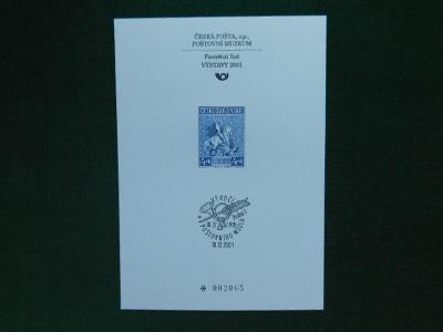 PTM 17 - 80. Výročí Zal  - 2001 - Příležitostné Tisky Poštovního Muzea