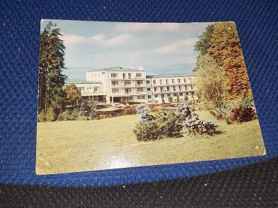 Pohlednice Kúpele Sliač- Liečebný dom Palace,neprošlé-propíchnuté rohy
