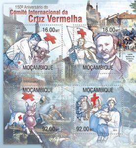 Mosambik 2013 Červený kříž, 150. výročí Mi# 6722-25 Kat 13€ 2280