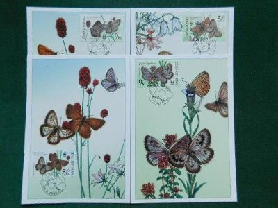 CM 41 / 48 - Ohrožení Motýli - 2002 - Cartes Maximum
