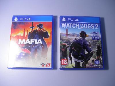 2x HRA - PS4 Watch Dogs 2 + PS4 MAFIA - DEFINITIVE EDITION - NEHRANÉ !