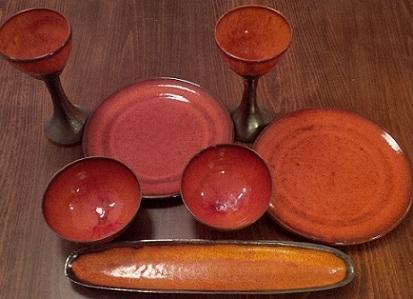 Sada luxusní ruční keramiky
