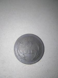 Dánsko - 5 ore 1874
