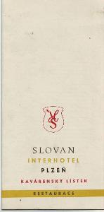 Plzeň-Interhotel-SLOVAN-kavárenský lístek-ČSSR