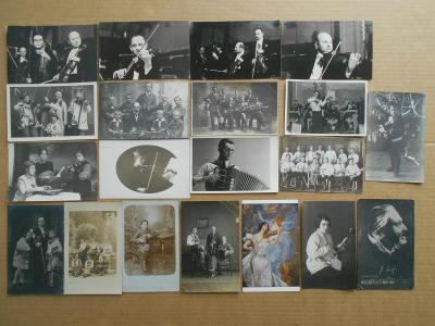 HUDBA HOUSLE - skupiny FERENZ L. /  18 KS  / MALÝ FOR.  pohlednic