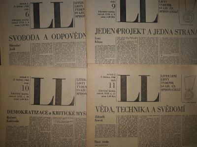 Literární listy 6,25.dubna 2,9 května 1968