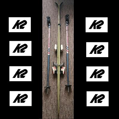 Retro lyže K2 5500 (180 cm) z 90 let s holemi Brückl