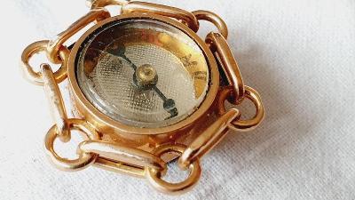 Zlatý šatlén k hodinkám s kompasem ryzost 585 14 K váha 9,75 gr. TOP
