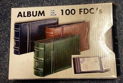Leuchtturm FDC album na 100 pohlednic, originál zabalený, zelený