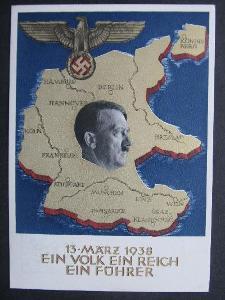 g9662 Jeden národ, jedna říše Hitler 1938
