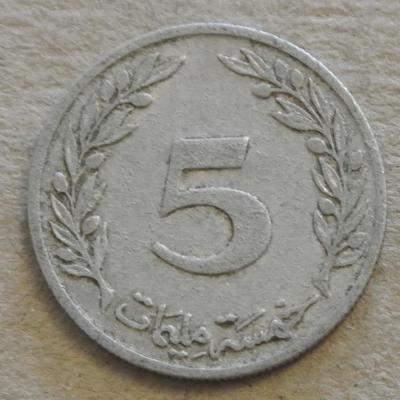 Tunisko 5 millimes 1960