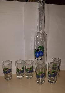 Sada skleniček na kořalku slivovice 250 ml, bez špuntu