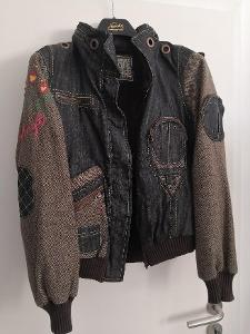 Nová dámská džínová teplá bunda