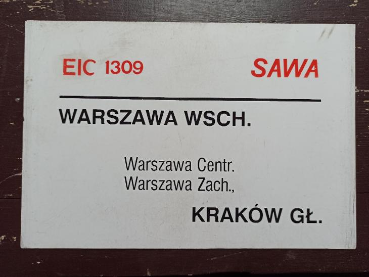 Směrová cedule PKP - EIC SAWA  - Ostatní