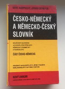 Česko-německý a Německo český slovník rok vydání 1994,Kumprecht a Ostm