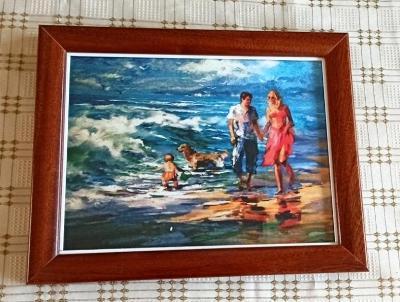 """""""Na břehu moře"""" a """"U moře""""  2 obrázky"""