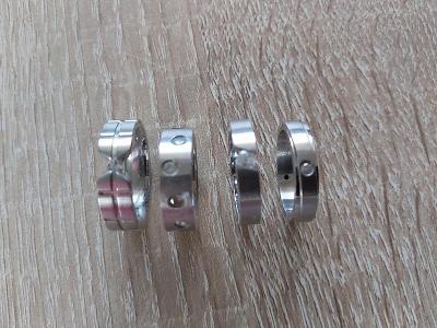 Nové nenošené prsteny chirurgická ocel vel.54-56 se zirkony