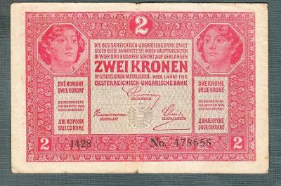 2 koruny 1917 serie 1428 bez přetisku