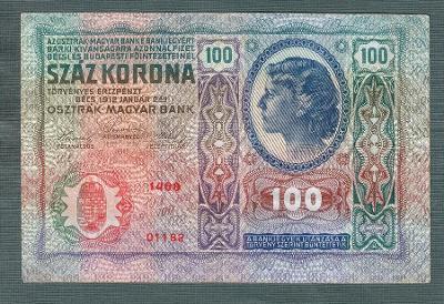 100 korun 1912 serie 1468 bez přetisku