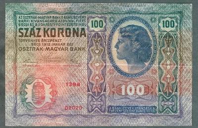 100 korun 1912 serie 1394 bez přetisku