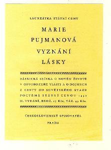 letak Marie PUJMANOVA Vyznani Lasky 1951 Generalissimus mir NESEHNATEL