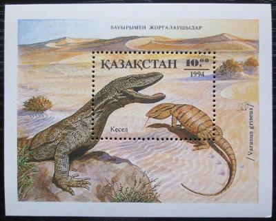 Kazachstán 1994 Obojživelníci a plazi Mi# Block 2 2287