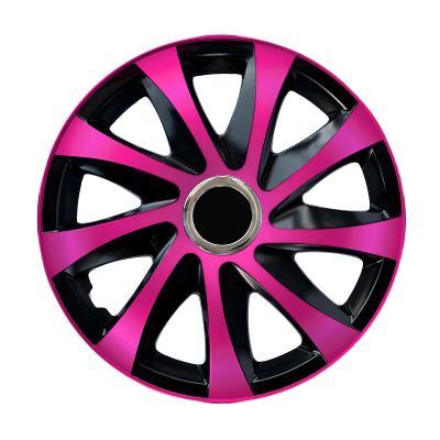 "Poklice na kola 14"" NRM Drift černo-růžové, 4 kusy"