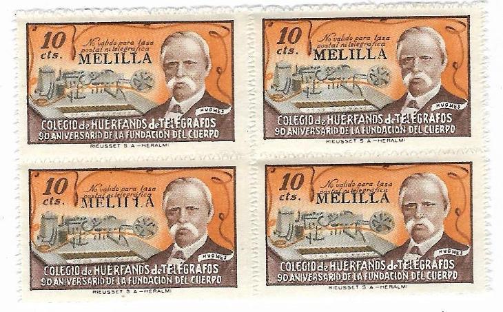 Čtyřblok starých známek Španělska** - Filatelie