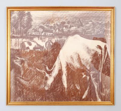 Krajina s dobytkem . Velký obraz