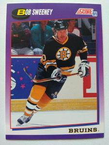 Bob Sweeney #176 Boston Bruins 1991/92 Score American