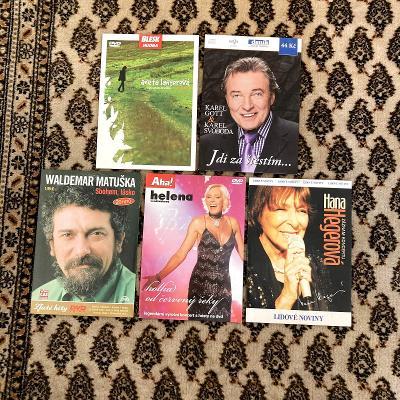 5 CD a DVD s českou hudbou - Gott, Hegerová, Vondráčková