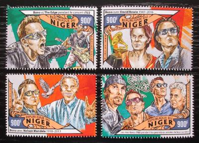 Niger 2016 U2, hudební skupina Mi# 4067-70 Kat 14€ 2287