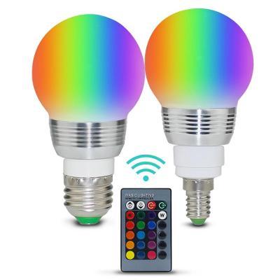 RGB Led žárovka E27 4W 16 barev s dálk. ovládáním