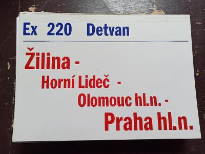 Směrová cedule ZSSK - Ex 220 DETVAN
