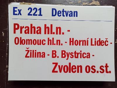 Směrová cedule ZSSK - Ex 221 DETVAN
