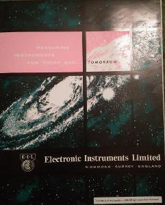 Leták firmy Electronic Instruments Limited