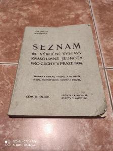 Seznam 65. Výroční výstavy Krasoumné jednoty pro Čechy v Praze 1904
