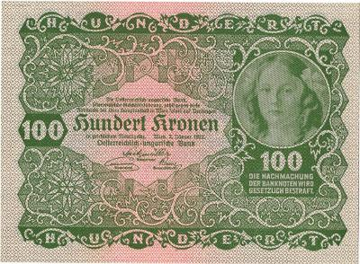 100 KRONEN 1922, RAKOUSKO, TOP STAV UNC !!!