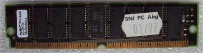 1 modul  SIMM paměti 72 pin 60ns čipy NEC-4217405-60