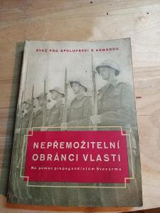 Kniha Nepřemožitelní obránci vlasti. Kniha na pomoc Svazarmu 1954