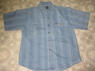 košile  modrá pěkná  pánská