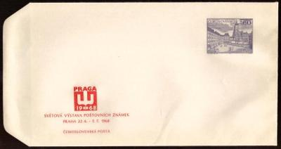 POF. COB 23 - CELINOVÁ OBÁLKA VÝSTAVA ZNÁMEK PRAGA 1968 (T7214)