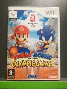 Mario and Sonic: At the Olympic Games (Wii)- komplet, jako nová