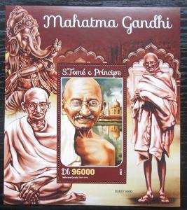 Svatý Tomáš 2016 Mahátma Gándhí Mi# Block 1184 Kat 10€ 2298
